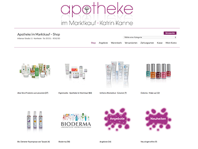 Webdesign Imprints | Website: Apotheke im Marktkauf