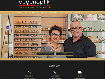 Webdesign Imprints | Website: Augenoptik Matthies