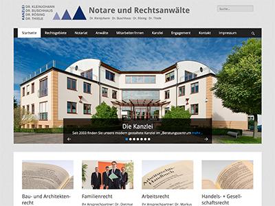 Webdesign Imprints | Website: Notare und Rechtsanwälte